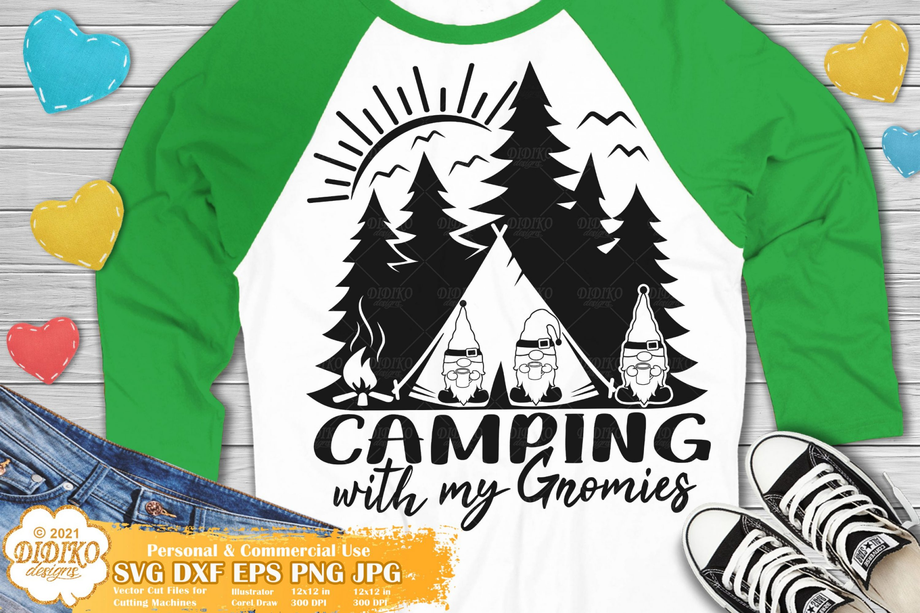 Camping Gnomes SVG, Camping with My Gnomies Svg