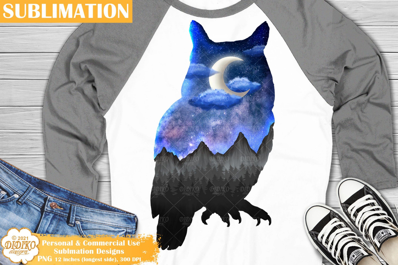 Owl Sublimation Design, Galaxy Sublimation, Owl PNGv