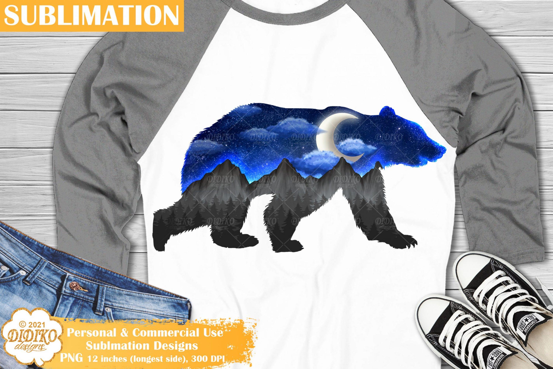 Bear Sublimation Design, Galaxy Sublimation, Bear PNG