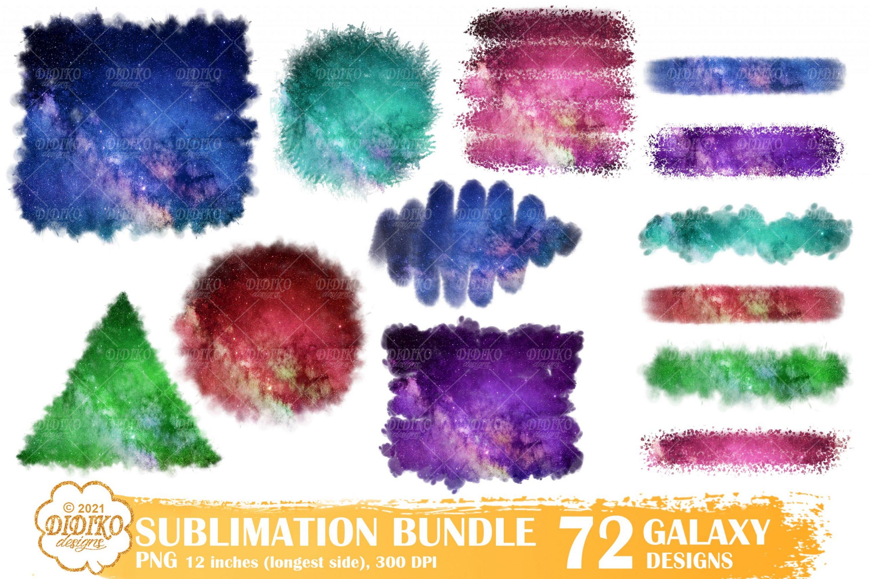 Galaxy Sublimation Backsplash, Brush Strokes Png Files