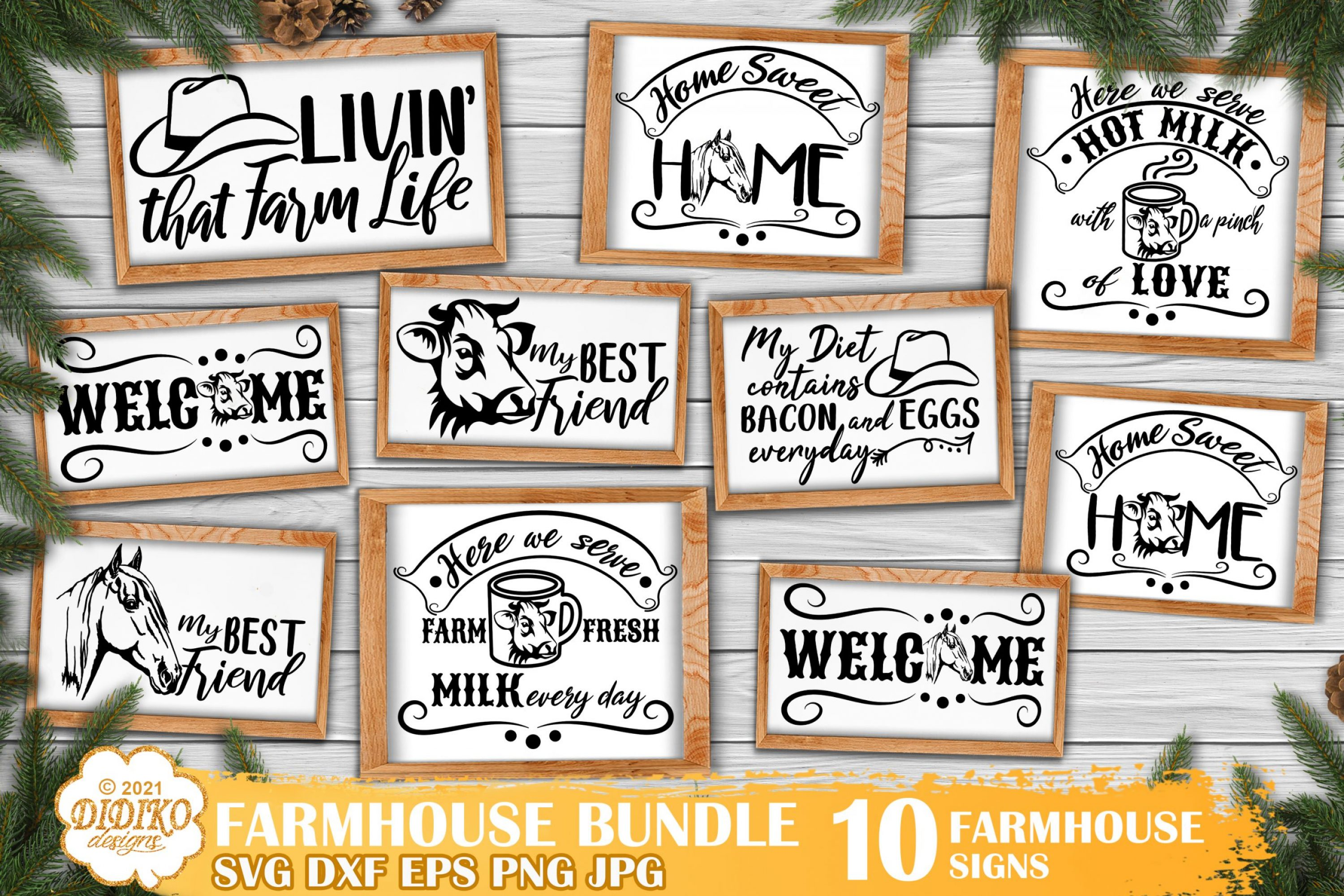 Farmhouse Signs SVG Bundle, Farmhouse Quotes Svg