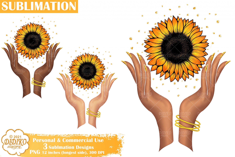 Sunflower Sublimation Design, Woman Sublimation Png