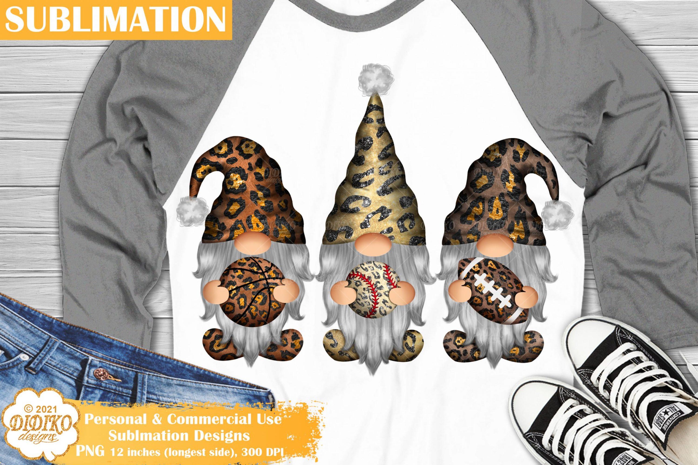 Gnomes Sublimation, Baseball Football Basketball PNG