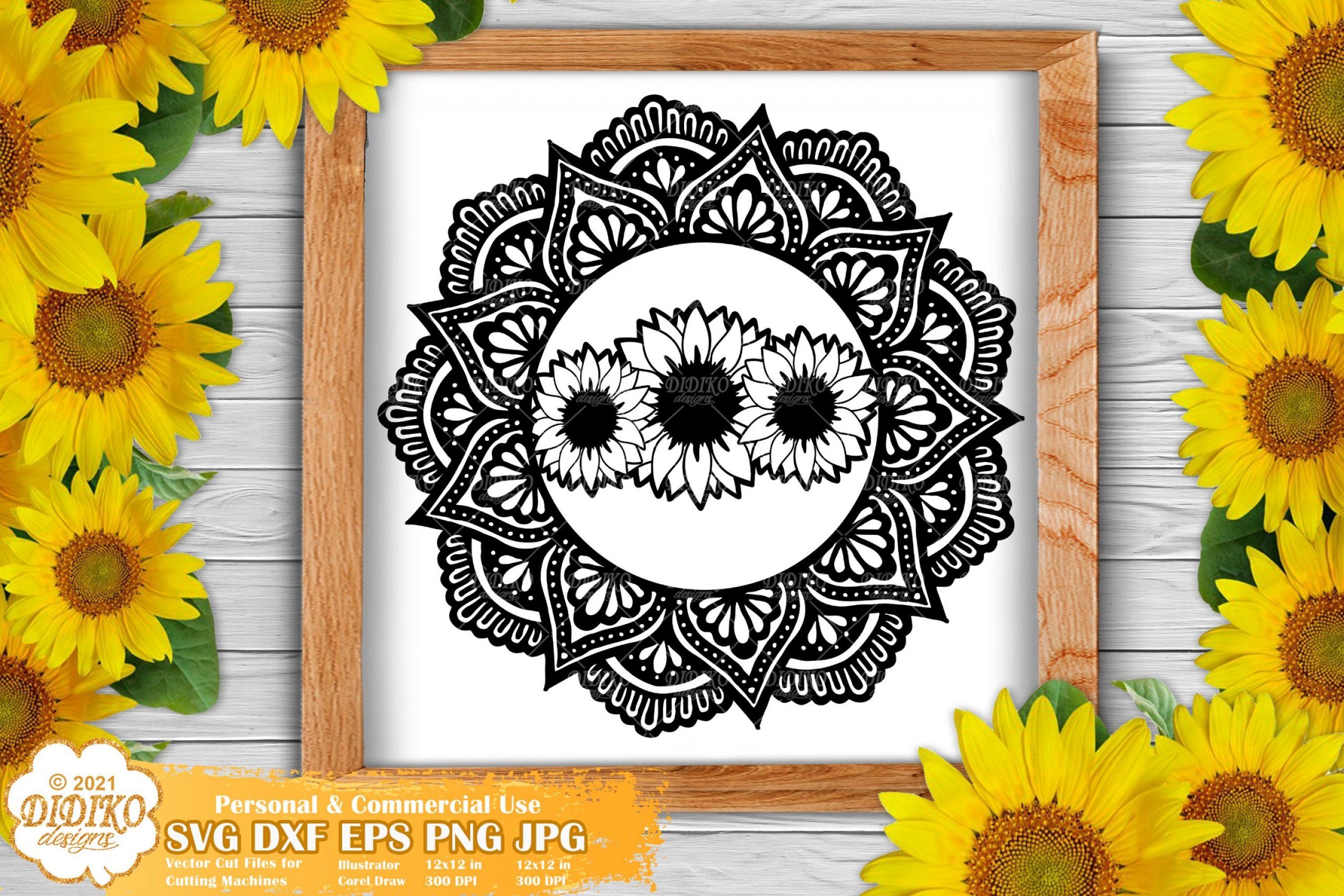 Sunflower Mandala SVG, Flower Mandala Svg Cricut file