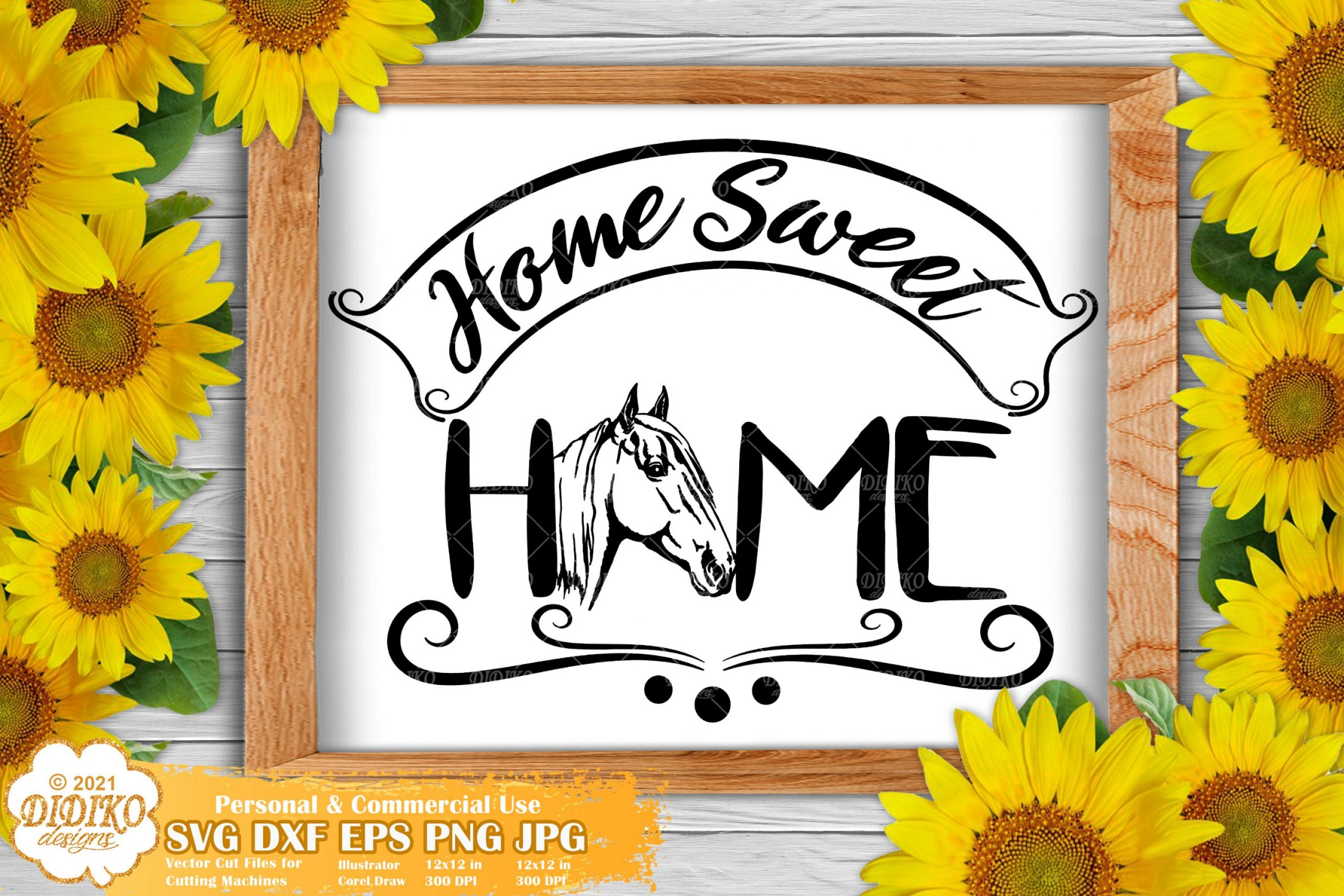 Home Sweet Home Sign SVG, Farmhouse Signs Svg