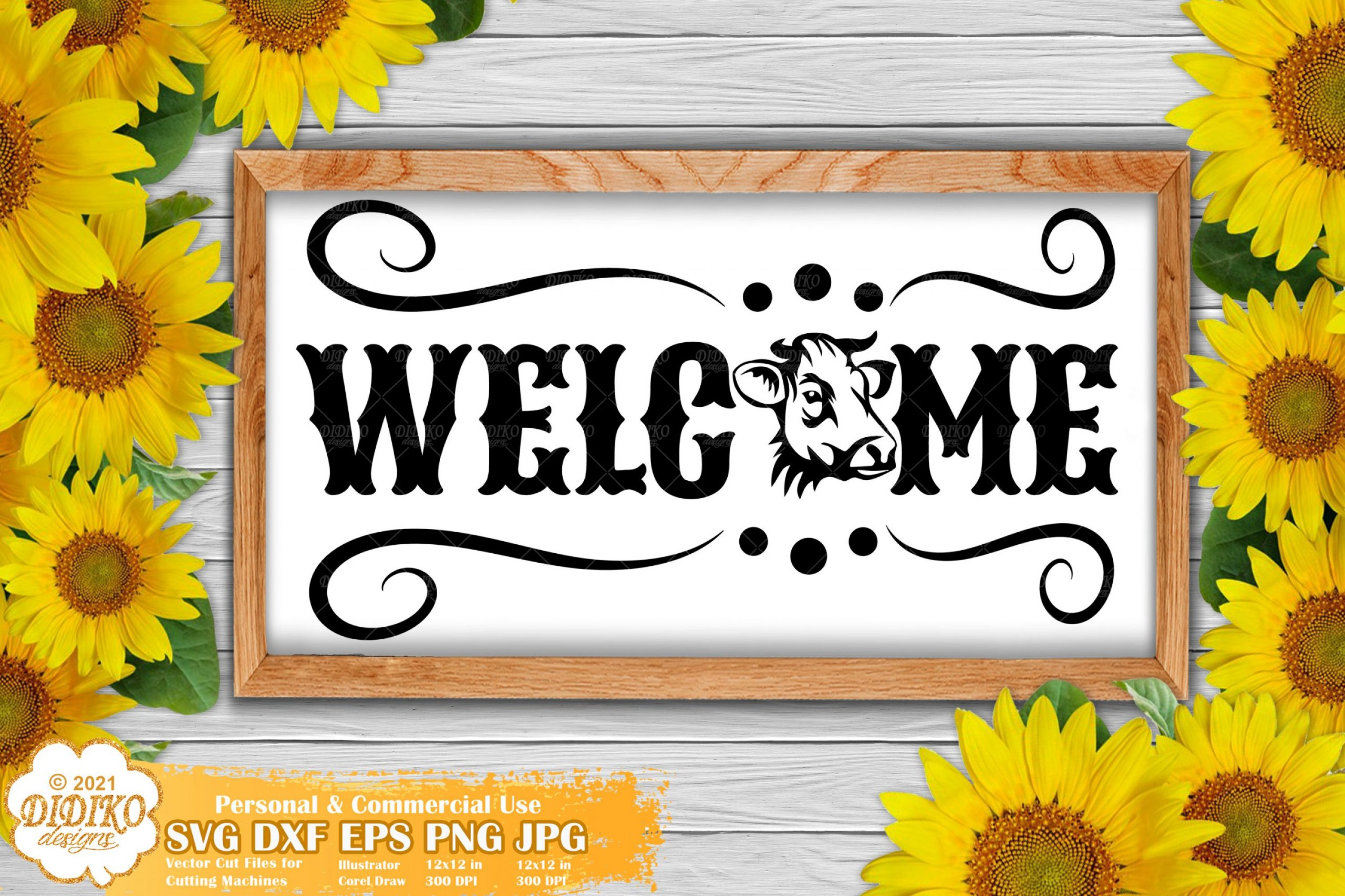 Welcome Farmhouse SVG, Cow Sign Svg, Home Signs