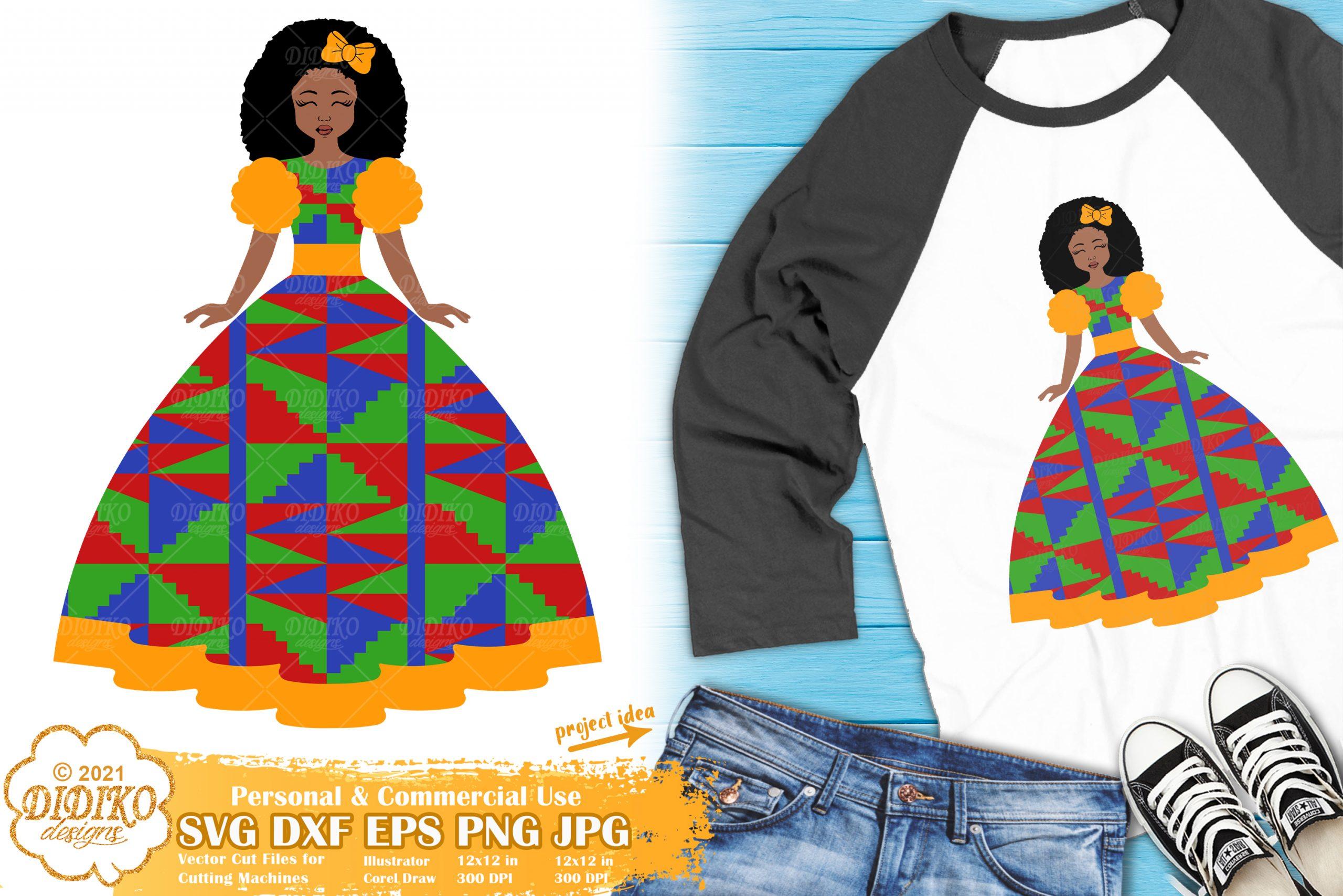 African American Girl SVG #1