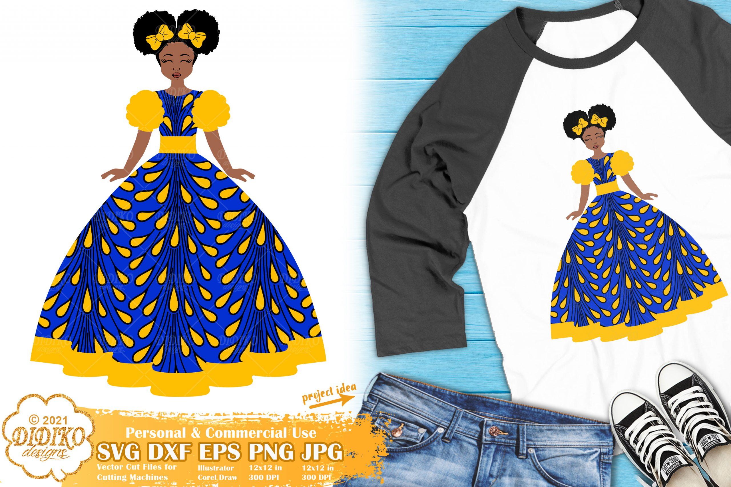 African American Girl SVG #2