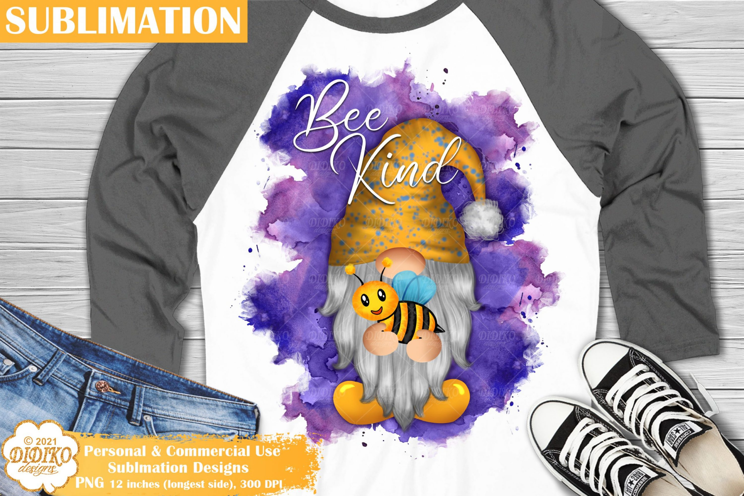 Gnome Sublimation #1, Be Kind sublimation, Gnome png