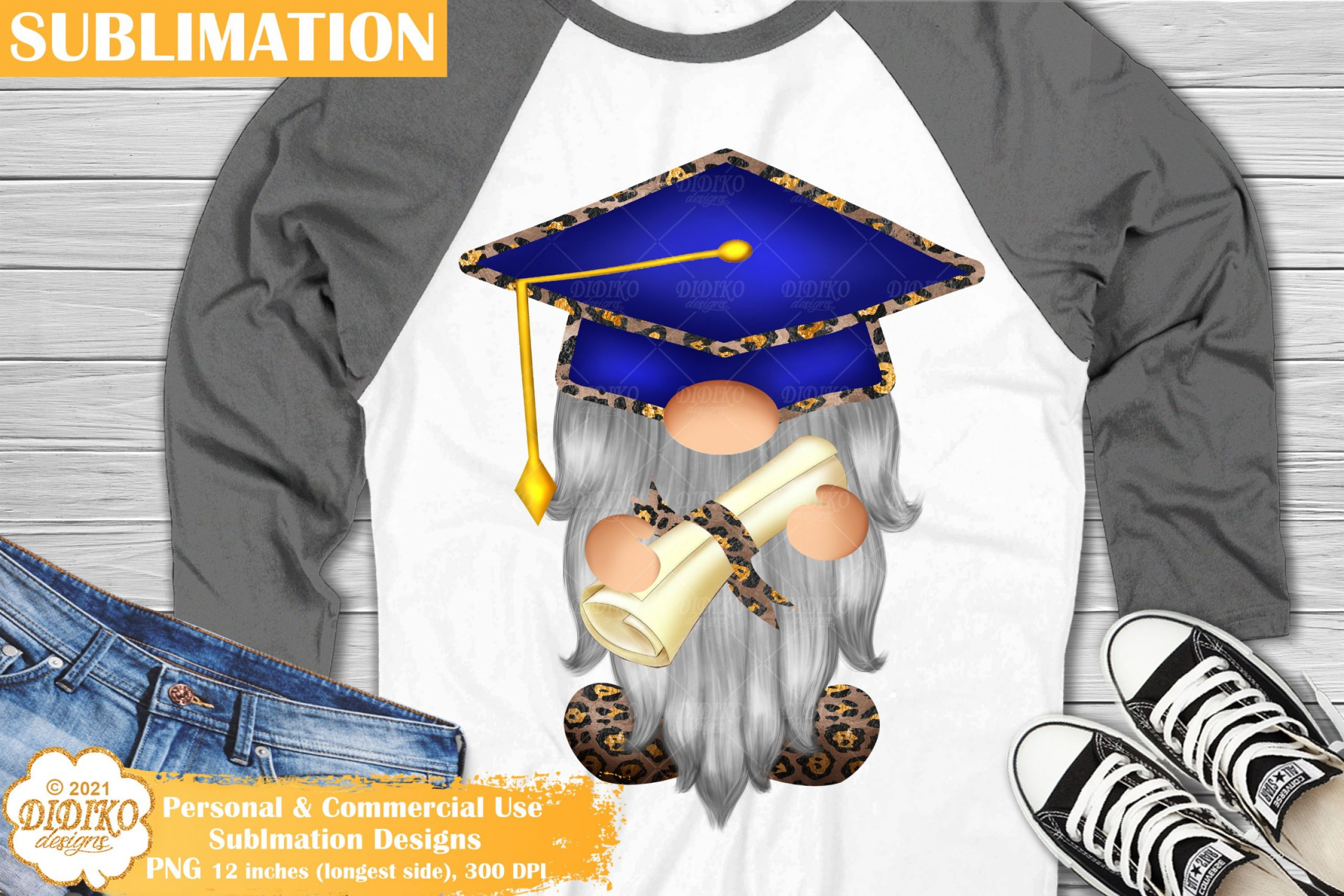 Graduation Gnome Sublimation, School Gnome Png