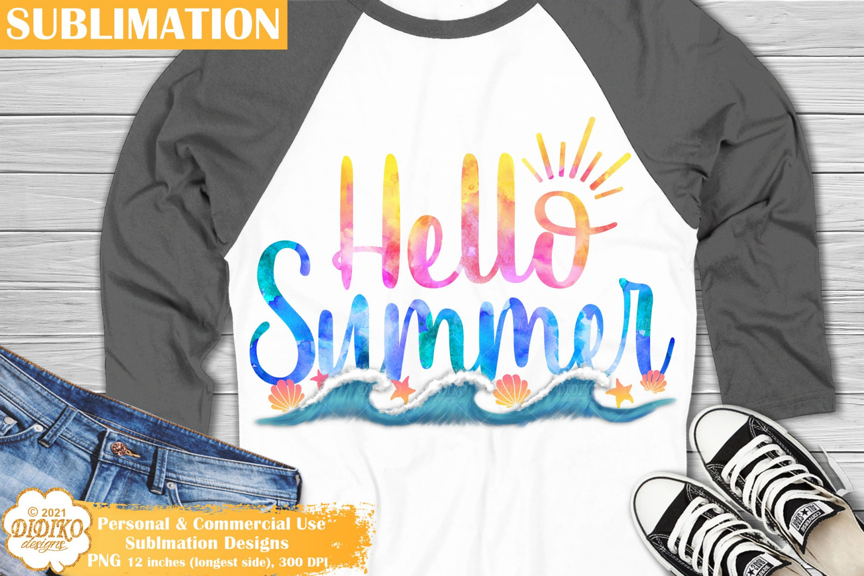 Hello Summer Sublimation, Summer Quotes Sublimation