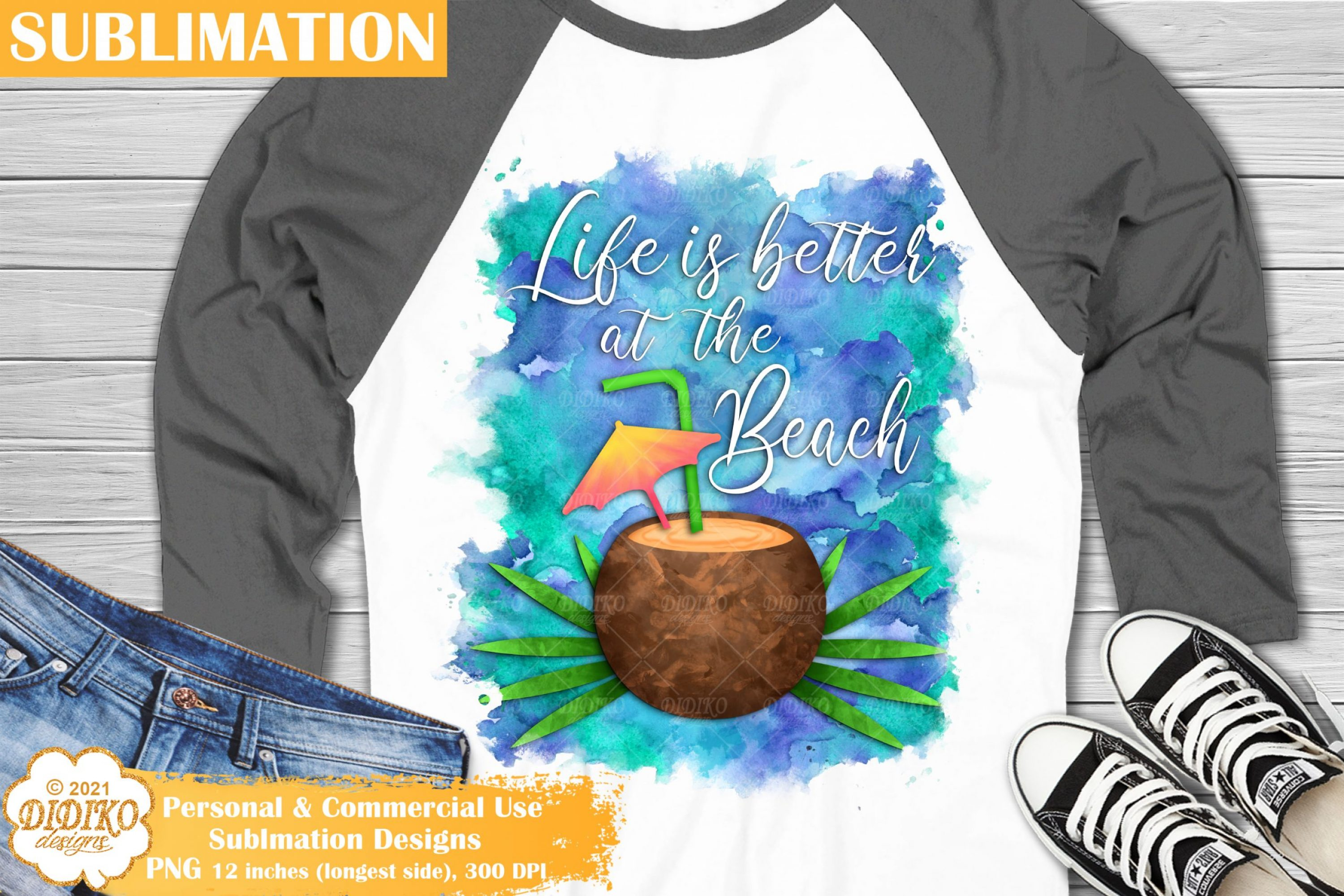 Coconut Sublimation, Beach Quotes Sublimation Png
