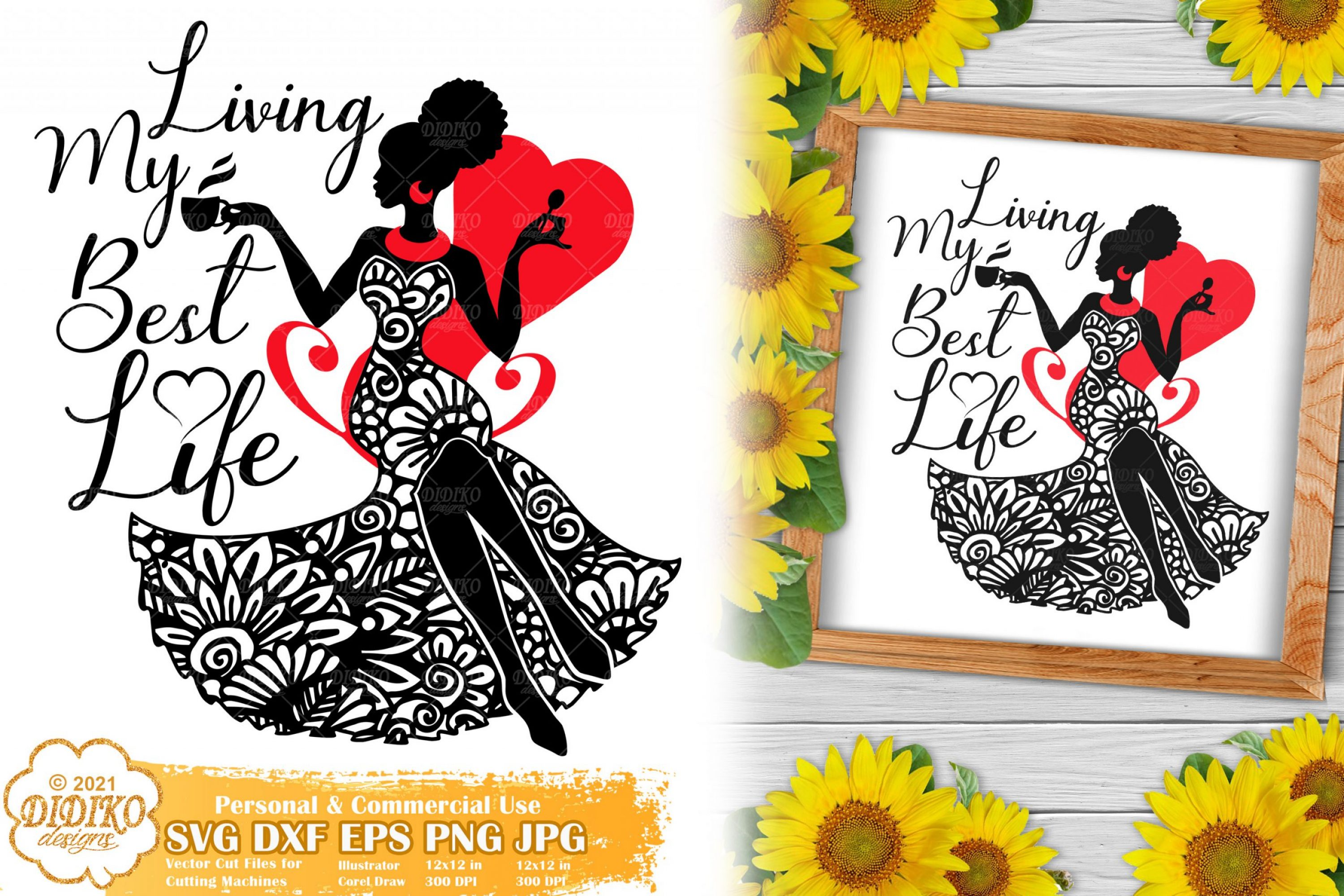 Girl Boss SVG, Black Woman quotes Svg, Zentangle svg