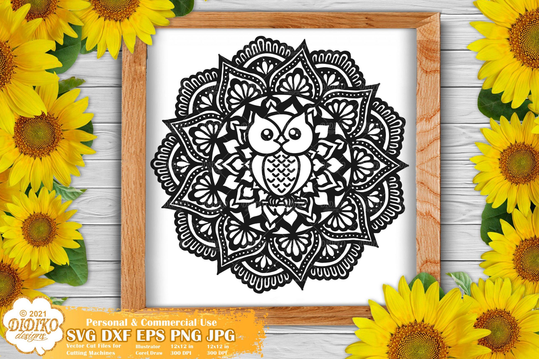 Owl Mandala SVG, Animal Mandala SVG, Cute Owl Svg