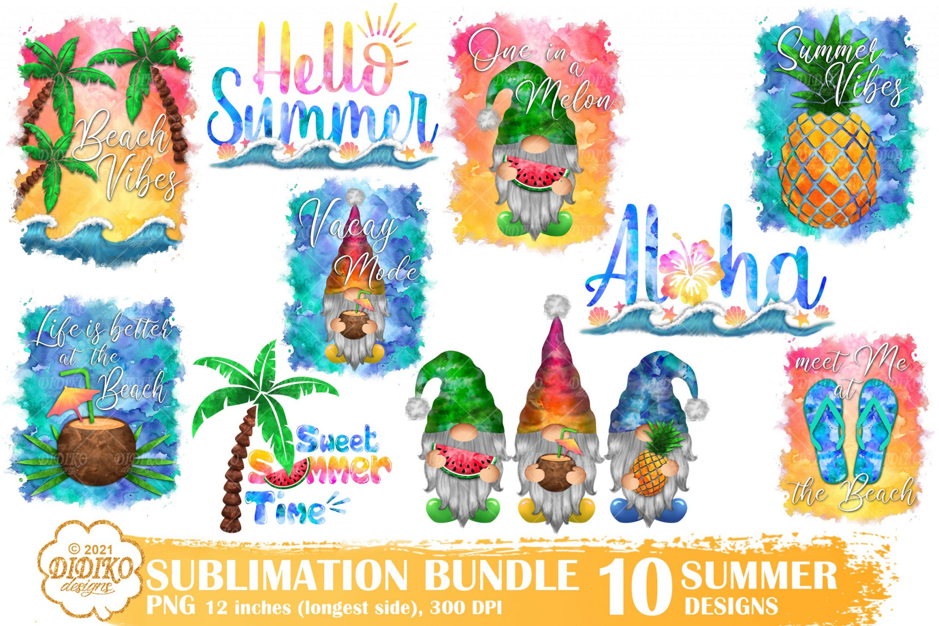 Summer Sublimation Bundle, Beach Sublimation Png