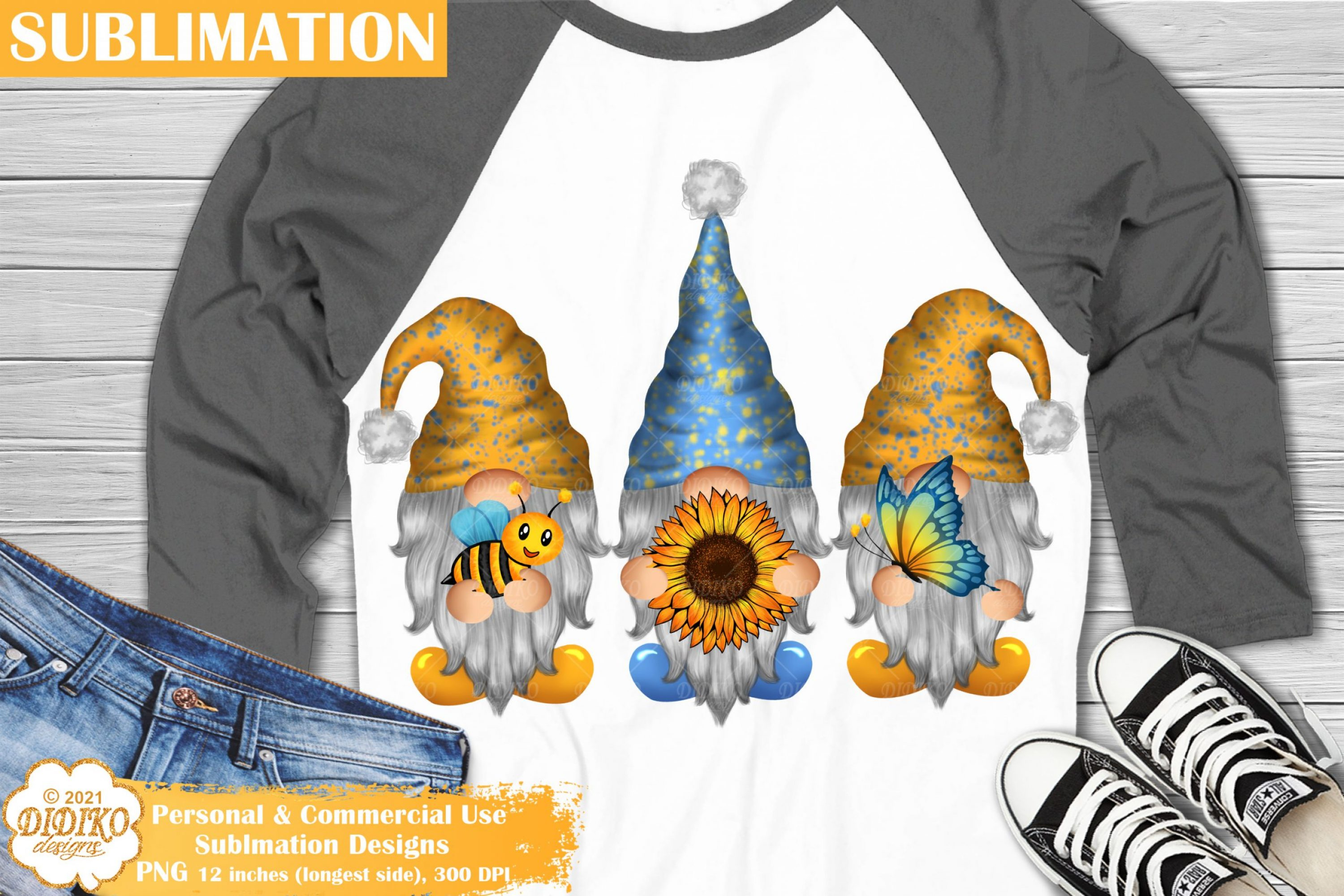 Summer Gnomes Sublimation, Gnome Png Clipart