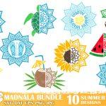 Summer Mandala SVG Bundle