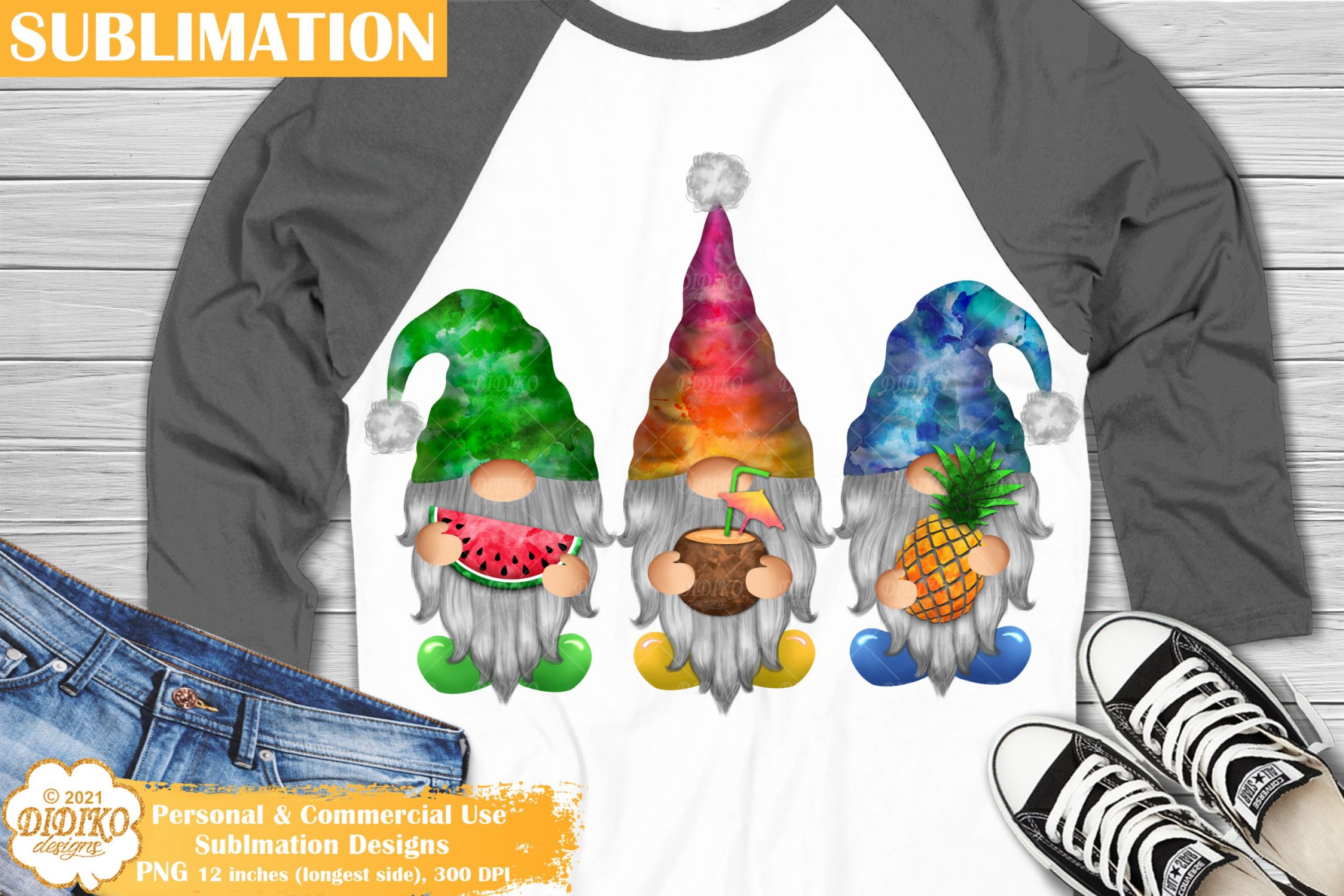 Summer Gnomes Sublimation Png, Gnome Clipart