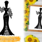 Zentangle Woman SVG #3