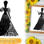 Zentangle Woman SVG #4
