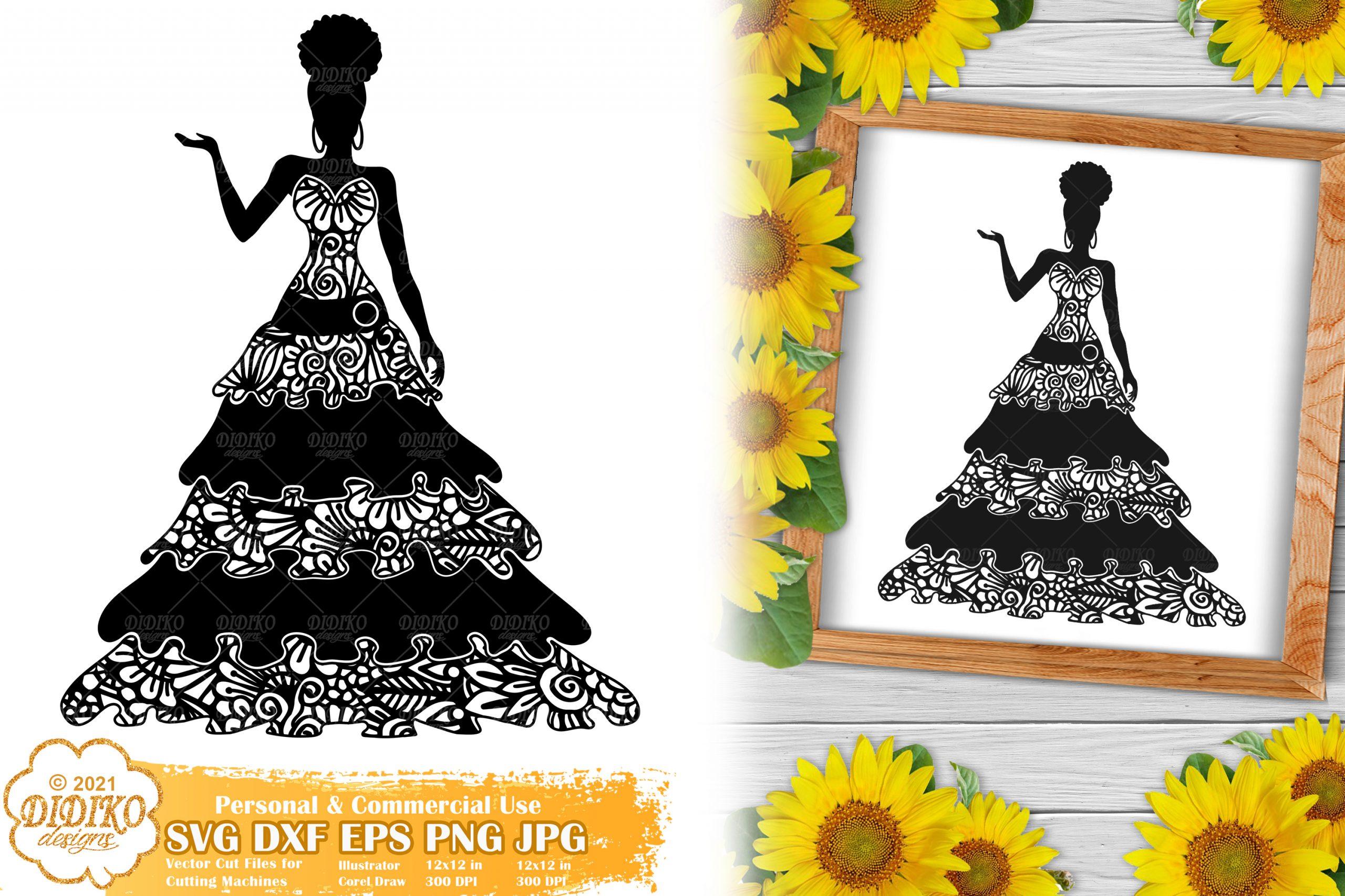 Zentangle Woman SVG #5