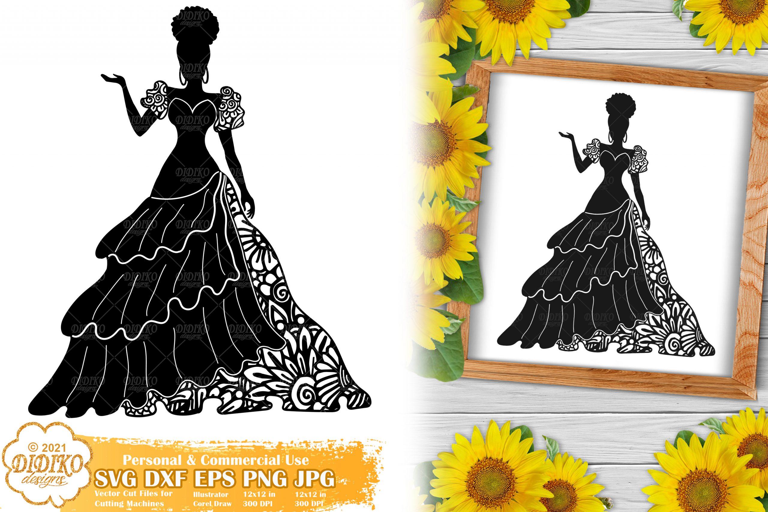 Zentangle Woman SVG #6