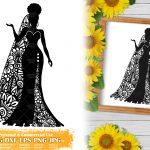 Zentangle Woman SVG #8