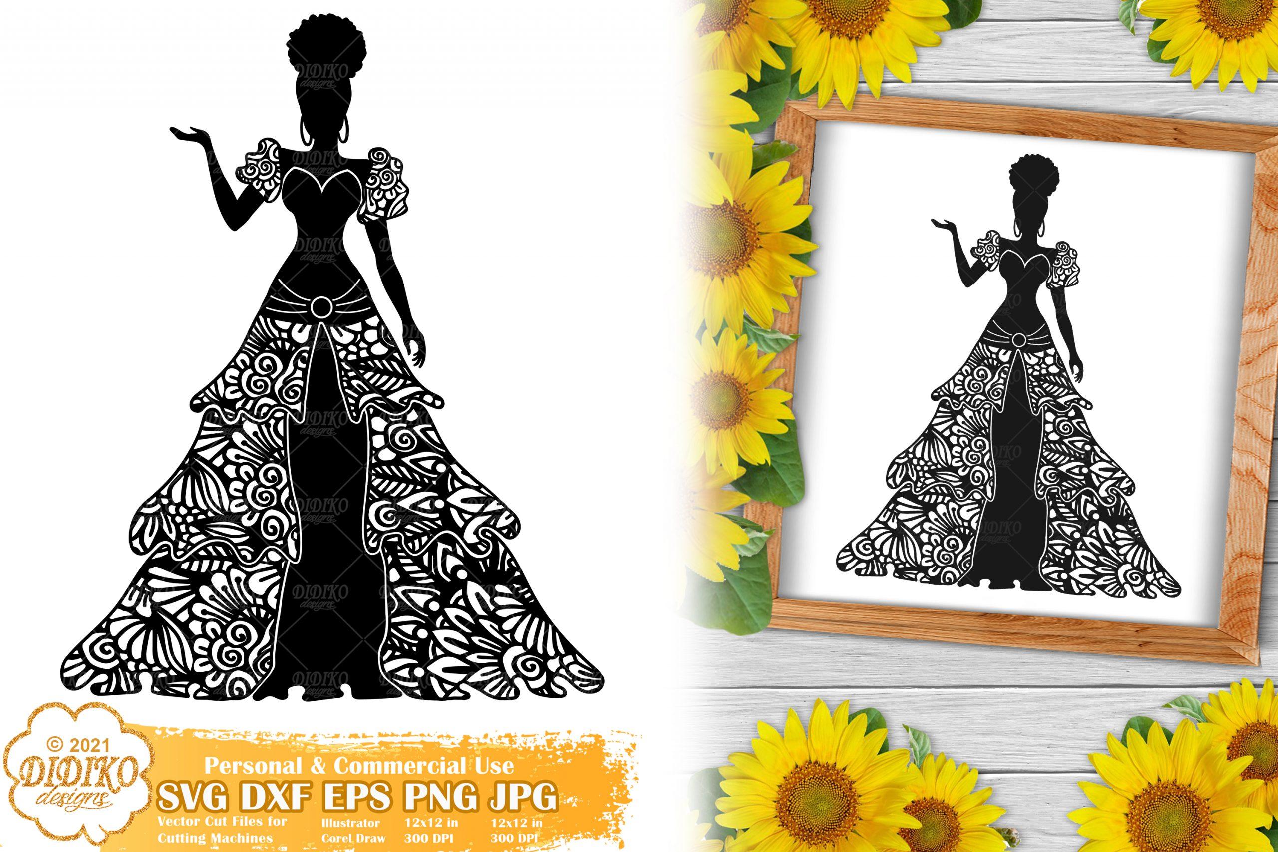 Zentangle Woman SVG #10