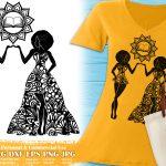 Black Women Zodiac Signs SVG