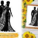 Zentangle Wedding SVG #2