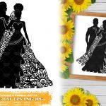 Zentangle Wedding SVG #3