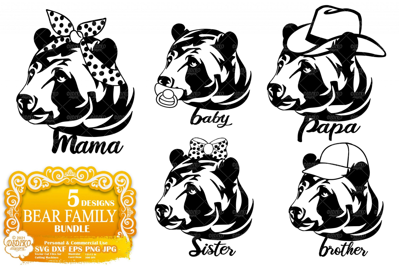 Family SVG Bundle, Mama Bear Svg, Bear Family Svg