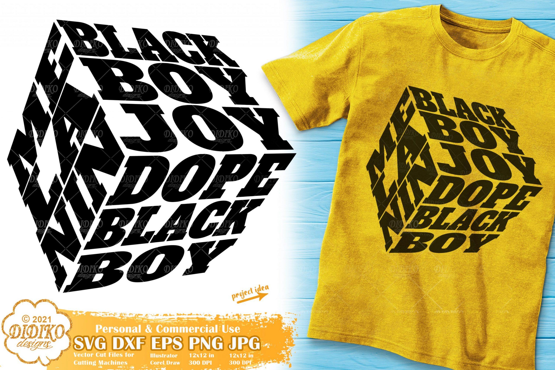 Black Boy Joy Svg #1, Dope Black Boy Svg, Cube Svg