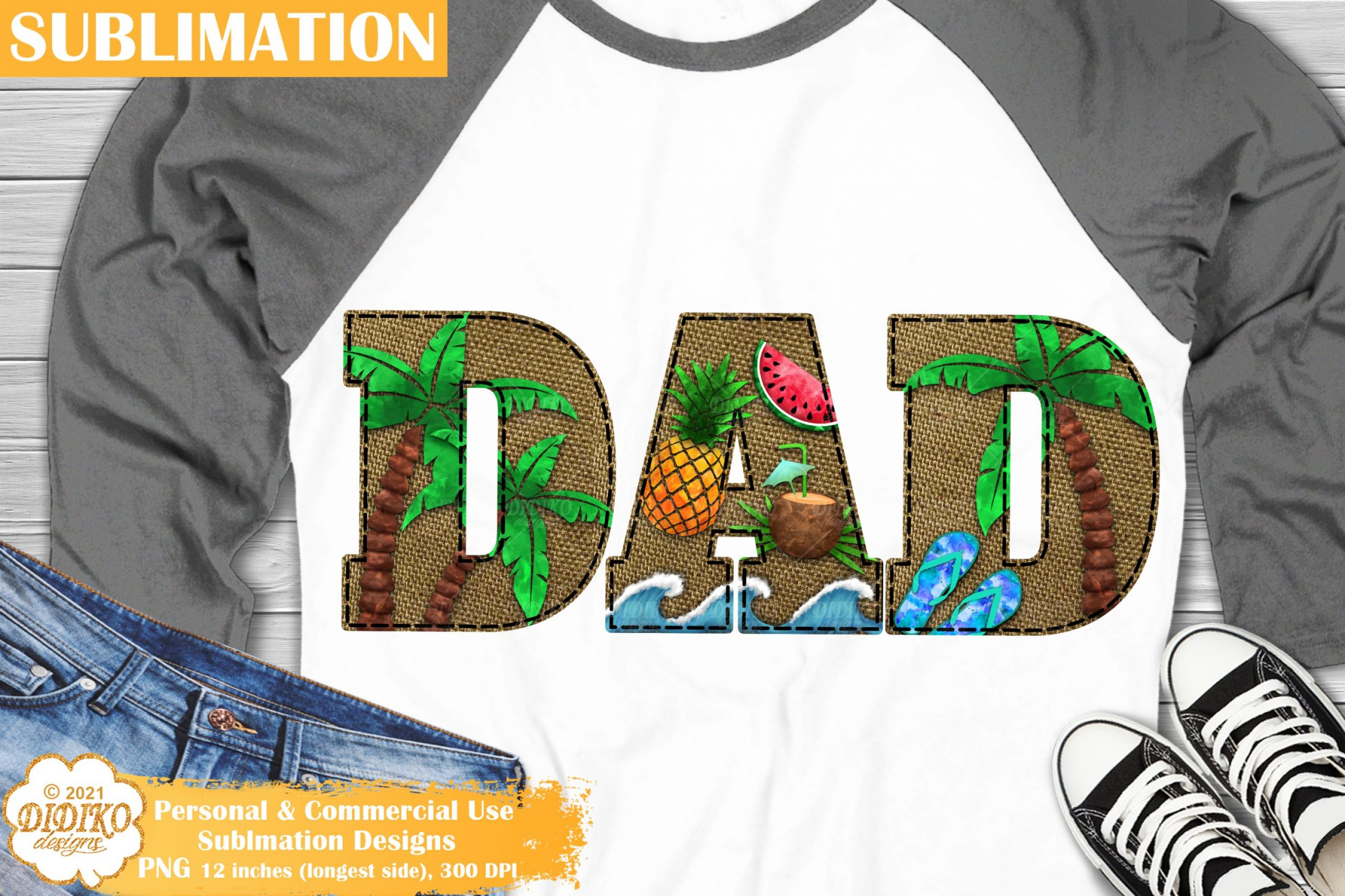 Dad Summer Sublimation, Vacation Png, Beach Png