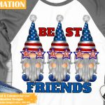 4th of July Gnomes Sublimation