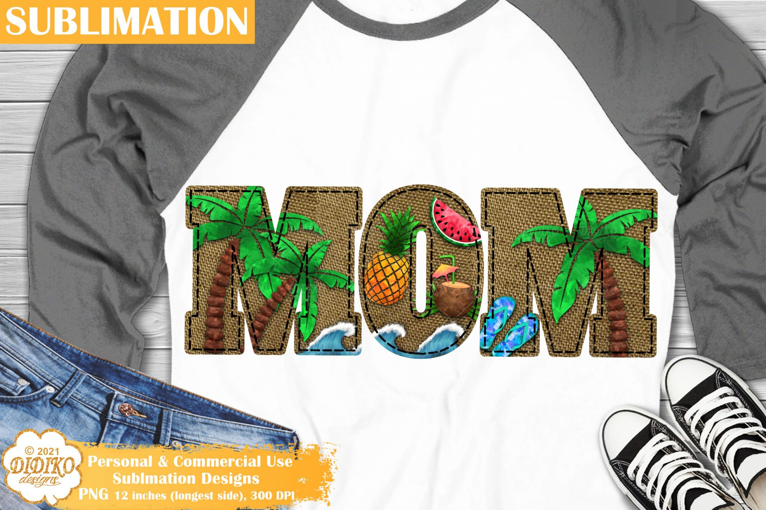 Mom Summer Sublimation, Vacation Png, Beach Png