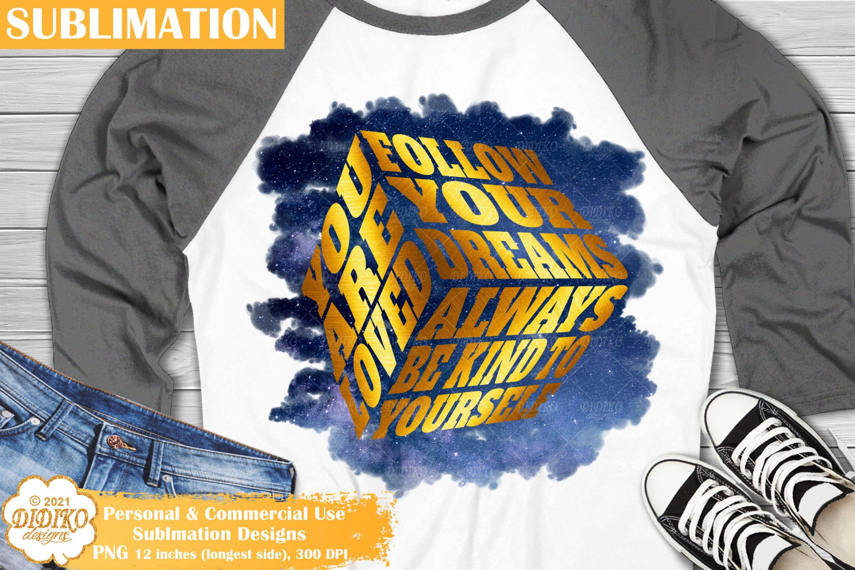 Motivational Sublimation, Positive Quotes Png, Cube