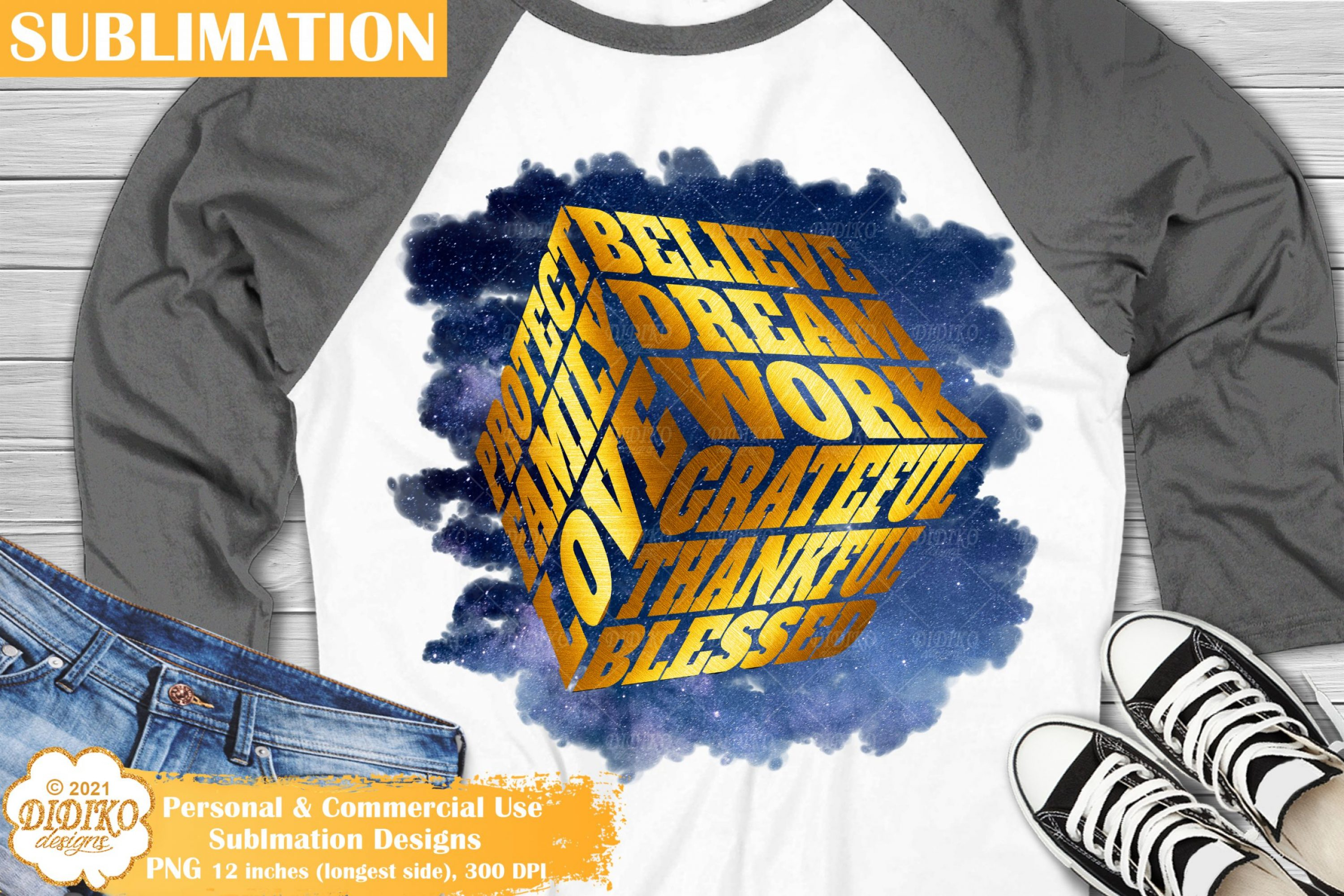 Blessed Sublimation, Family Quotes, Motivational Cube