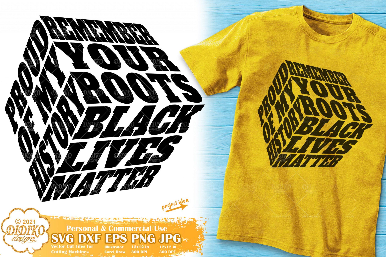 Afro Roots Svg, Juneteenth Cube svg, Black History svg