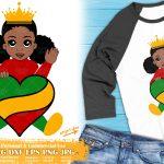 Little Black Girl SVG