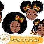 Black Girls SVG Bundle, Afro Girl Svg, Ankara png clipart