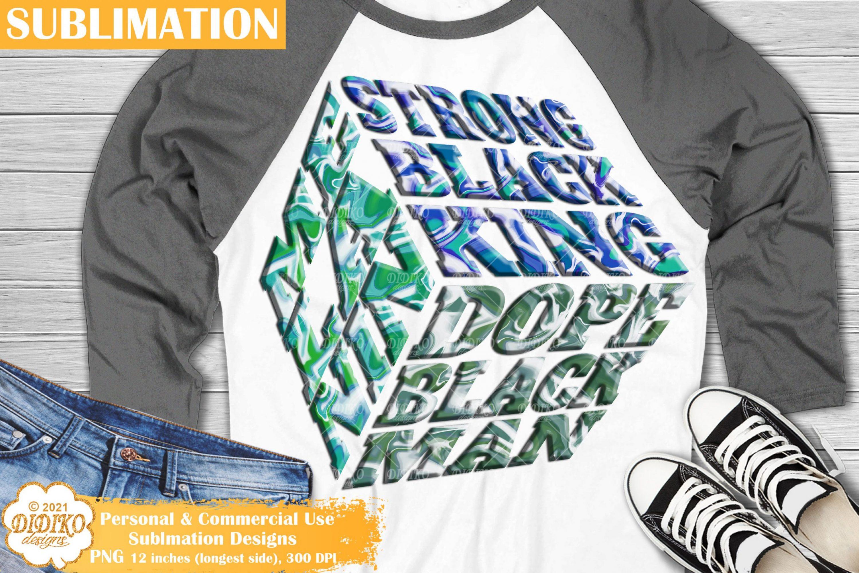 Black Man Sublimation, Dope Black Dad Png, Cube Png