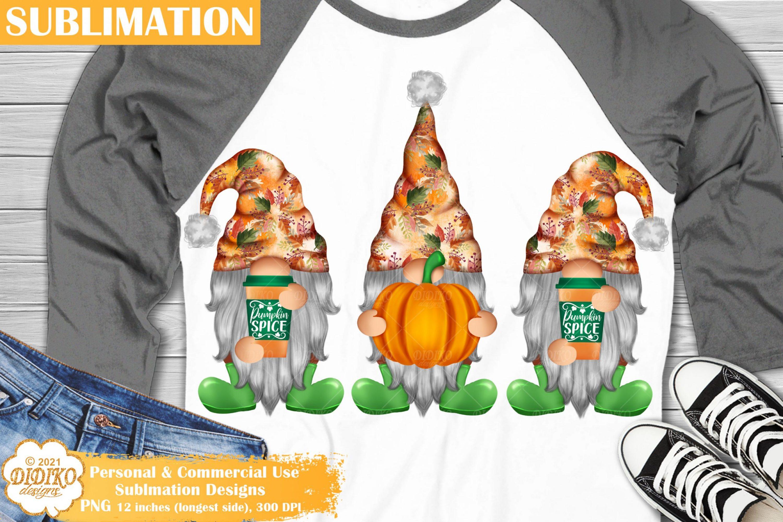 Fall Gnomes Sublimation, Pumpkin Gnome Png, Autumn