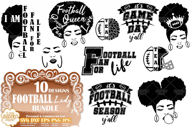 Black Woman SVG Bundle #1 | Football SVG Bundle File