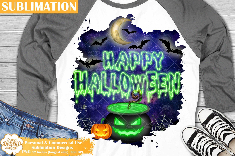 Happy Halloween Sublimation, Spooky Pumpkin Png