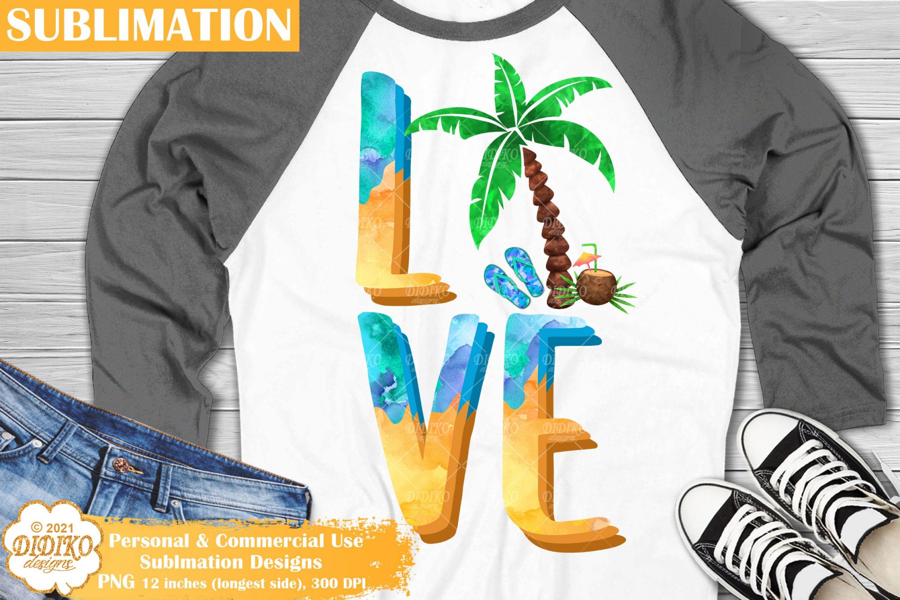 Beach Love Sublimation, VacationSublimation Png