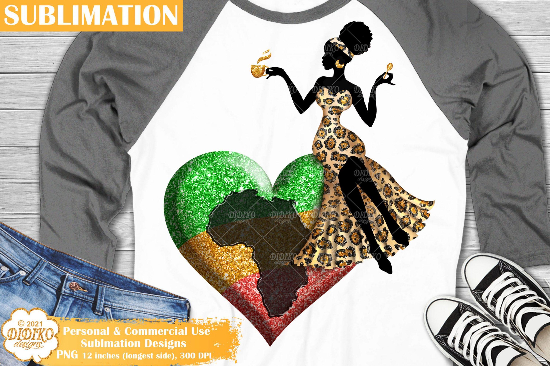 Black Girl Sublimation, Africa Png, Black Woman Png