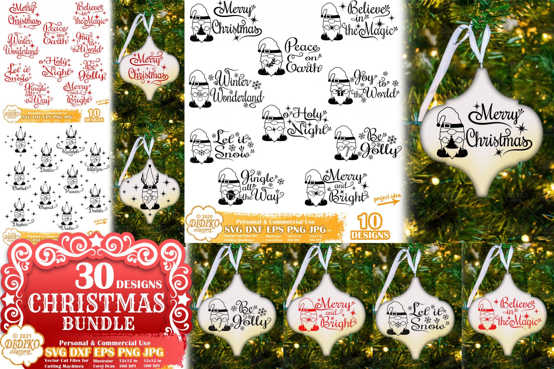 Arabesque Christmas Ornament Bundle, Gnomes Svg