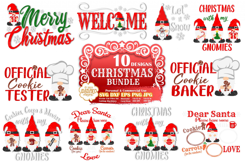 Christmas Gnomes SVG Bundle, Merry Christmas Svg