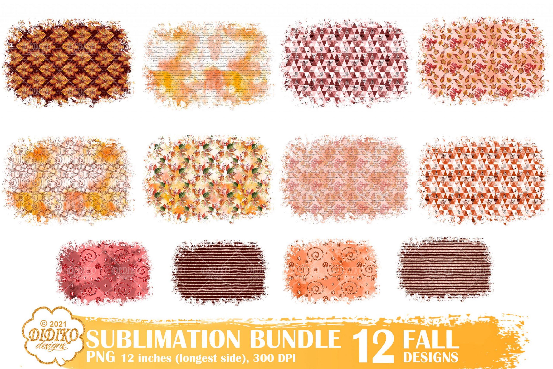 Fall Sublimation Backgrounds Bundle, Autumn Png